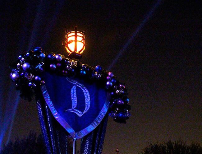 Disneyland Christmas 60th sign