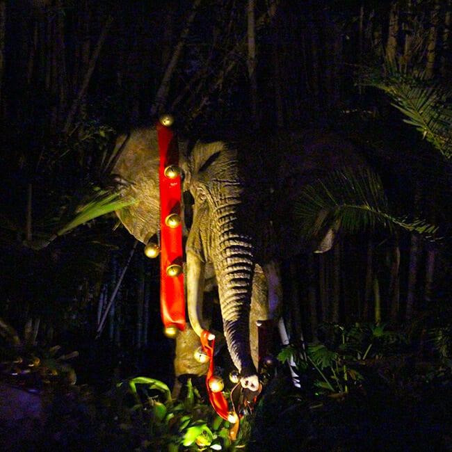 Disneyland Christmas Jingle Cruise Elephant