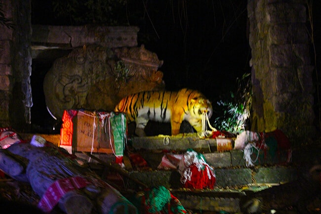 Disneyland Christmas Jingle Cruise Tiger