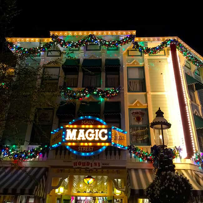 Disneyland Magic Shop at Night