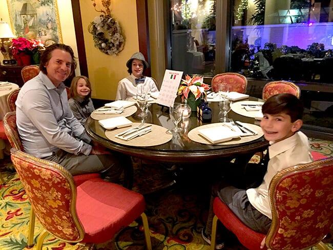 Having Family Dinner at the Four Seasons