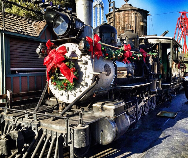 Knott's Berry Farm Train at Christmas
