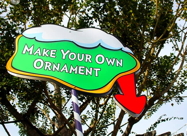 Make your own ornament at Grinchmas