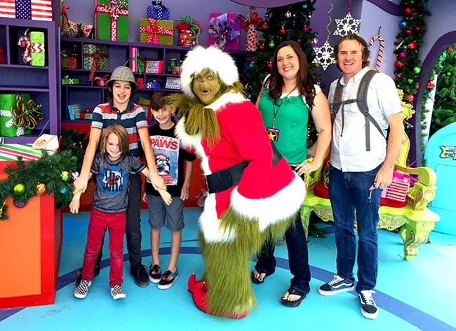 Meeting the Grinch at Universal Studios