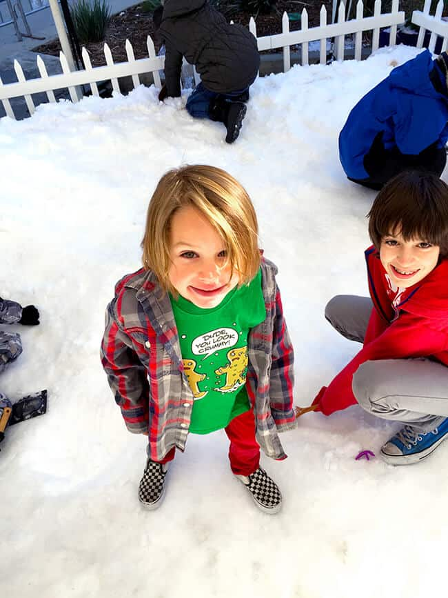 Playing in the Snow at the Cube