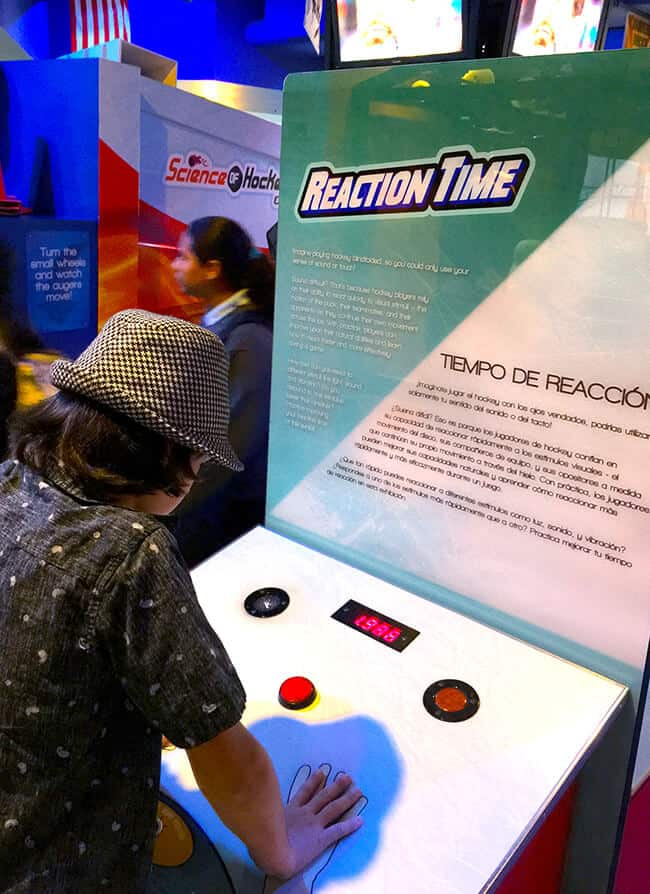 Science of Hockey Reaction Time Exhibit