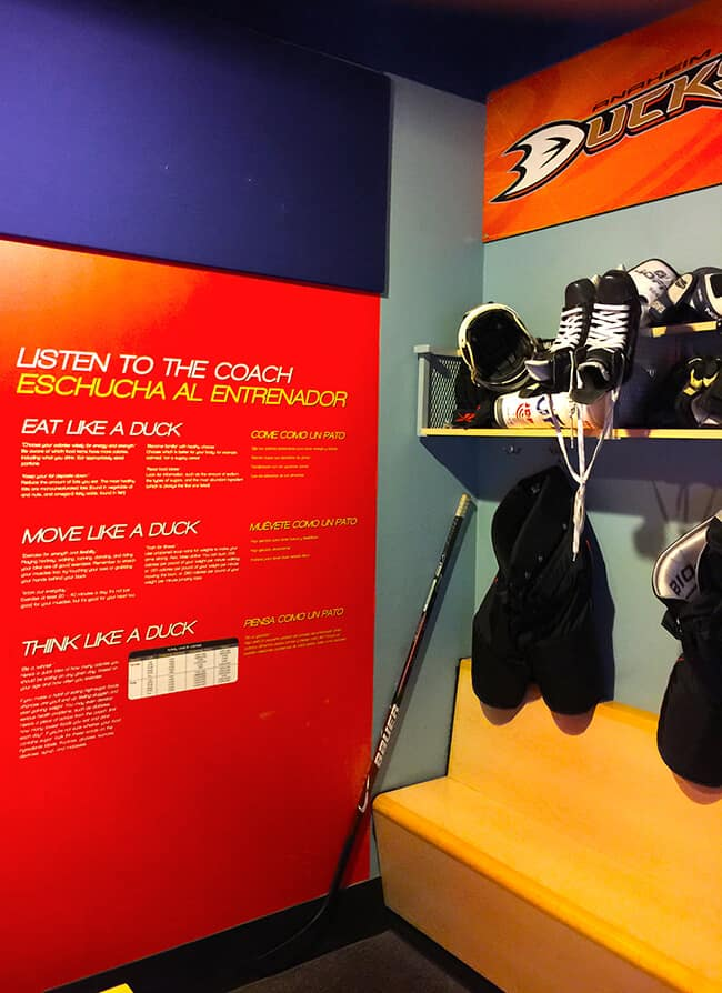 Science of Hockey at Discovery Cube Locker Room Exhibit