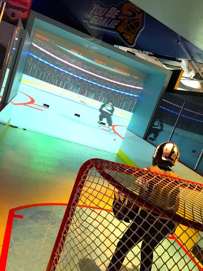 Science of Hockey at Discovery Cube_Be a Goalie