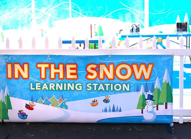 Snow Learning Station at Discovery Cube