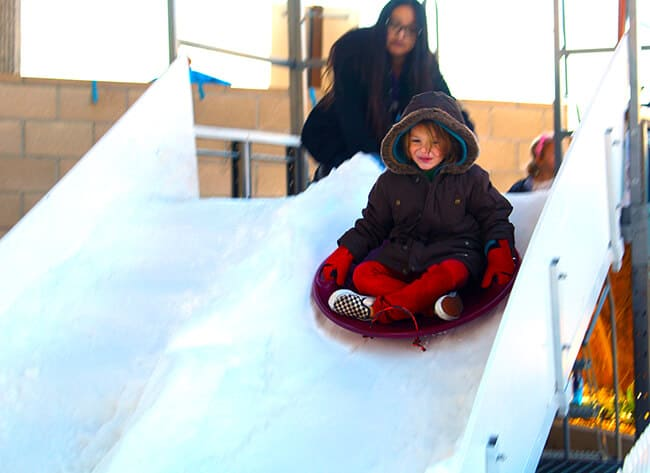 Snow Sledding at the Discovery Cube in Santa Ana