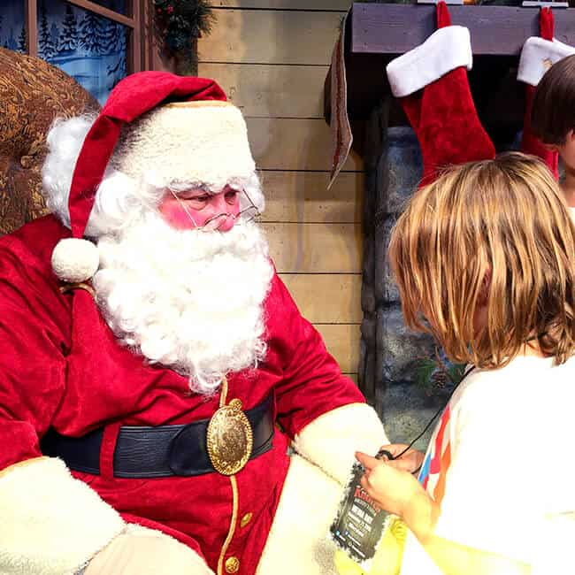 Vann with Santa at Knott's