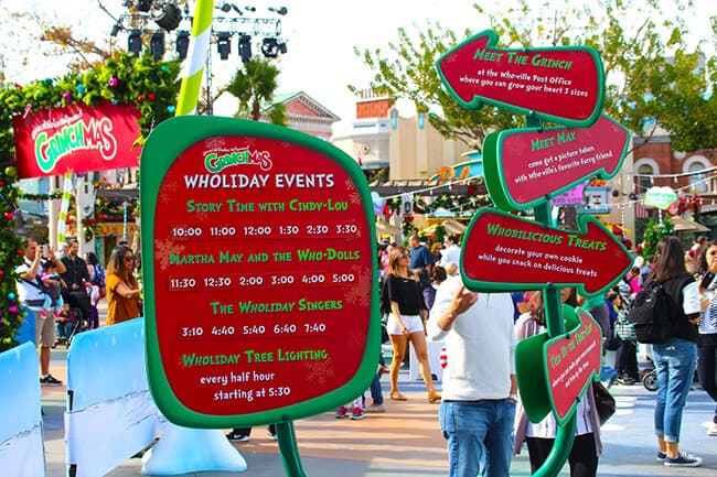 Wholiday Events at Grinchmas