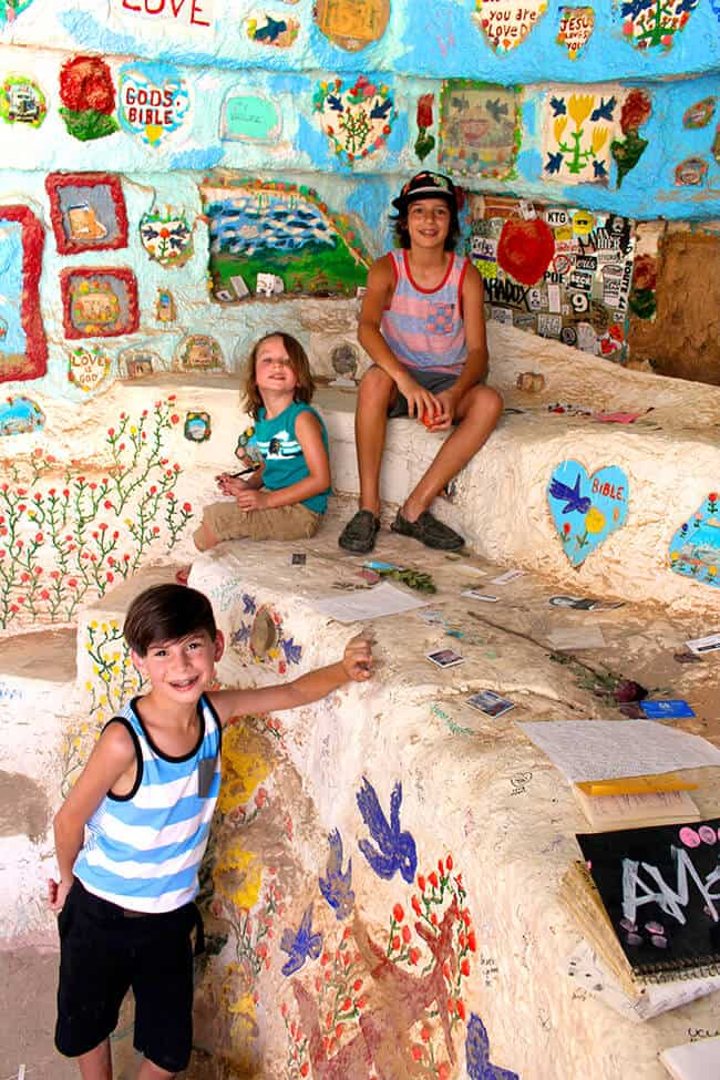 Caves in Salvation Mountain