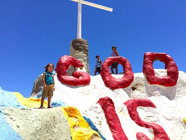 Cross at the Top of Salvation Mountain