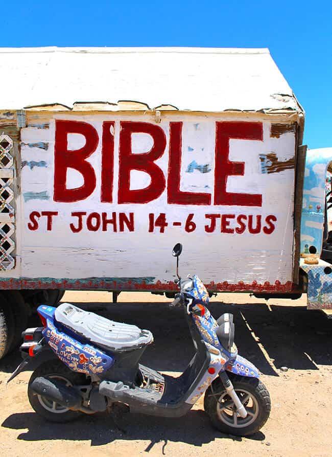 Salvation Mountain Bible Truck