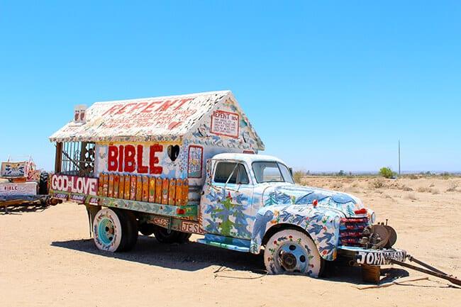 Salvation Mountain Truck