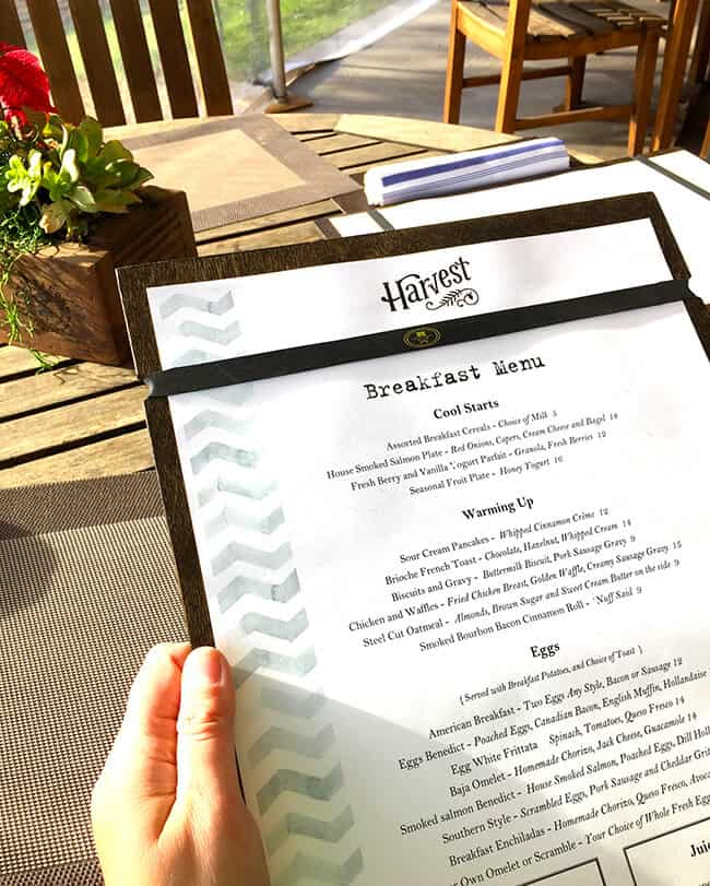 The Harvest Menu at the Ranch