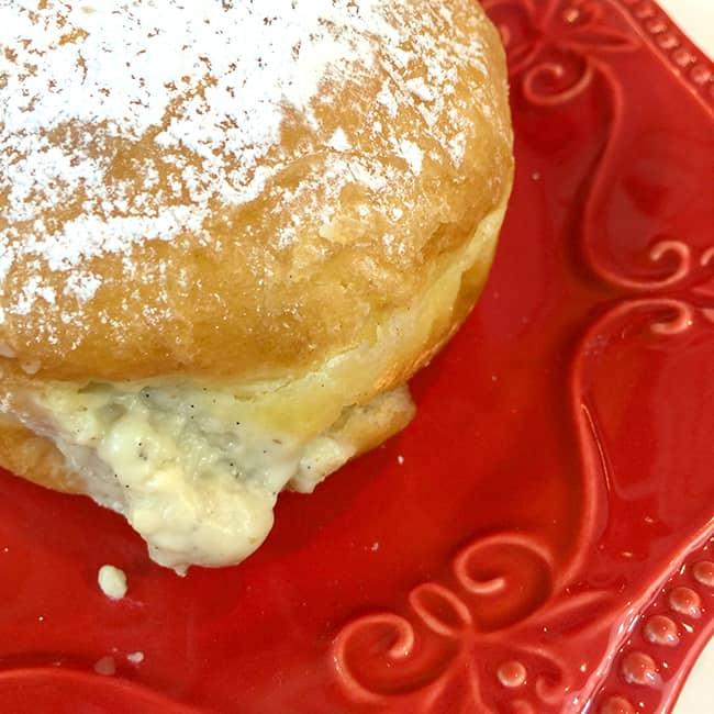 Vanilla Bean Custard Donut