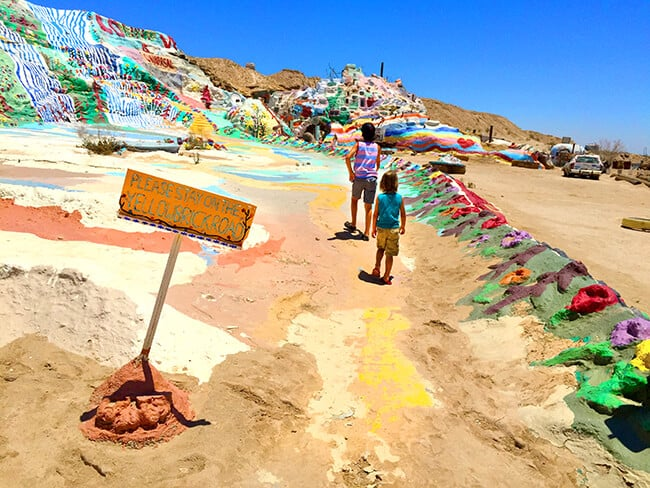 Yellow Brick Road at Salvation Mountain in California