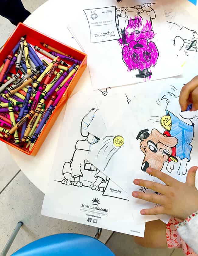 Kids Coloring at the ScholarShare Event