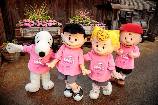 Knott's For The Cure Snoopy Gang
