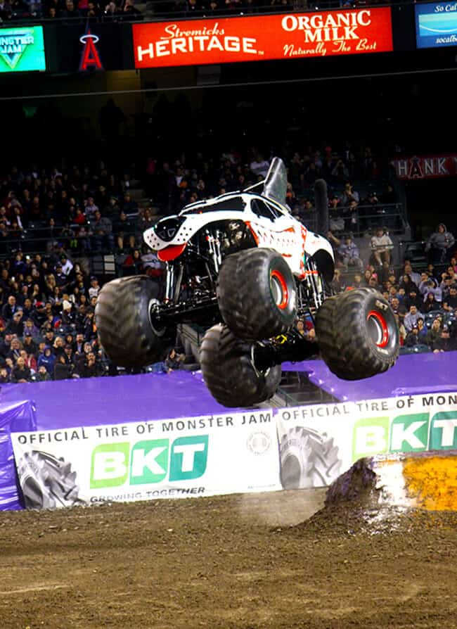 Monster Mutt Dalmation at Monster Jam in Anaheim