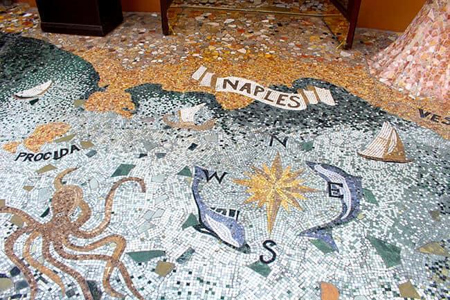Naples Ristaurante Mosaic Entrance