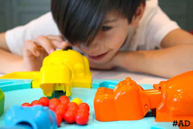 Playing-Hungry-Hungry-Hippos #ad