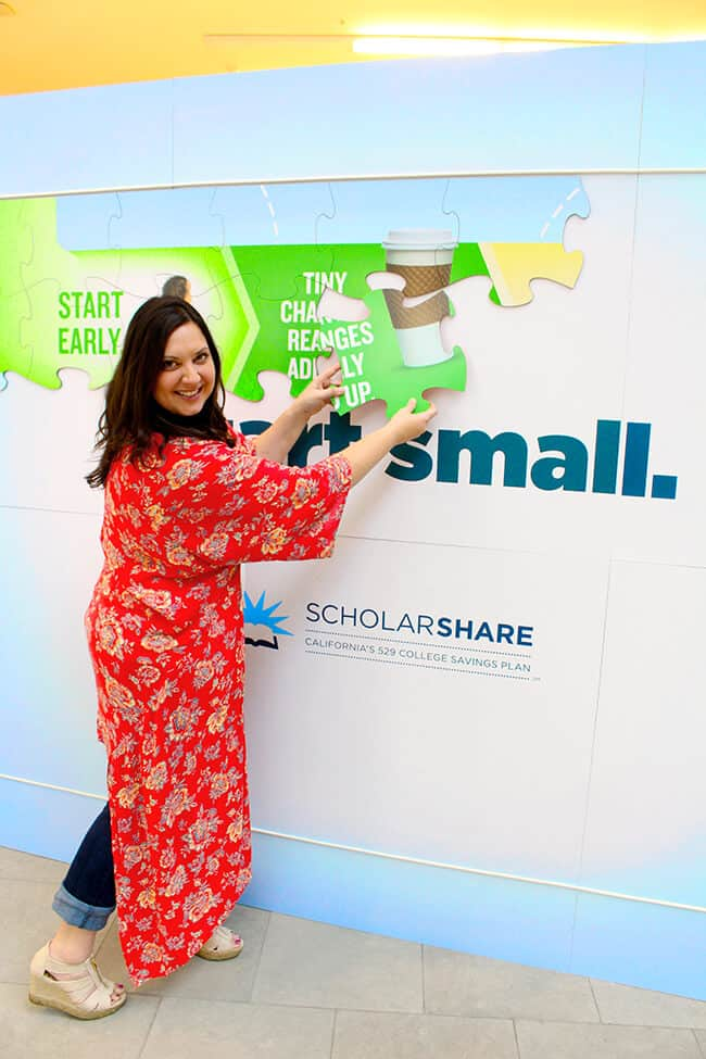 Putting up the Scholarshare Puzzle Piece