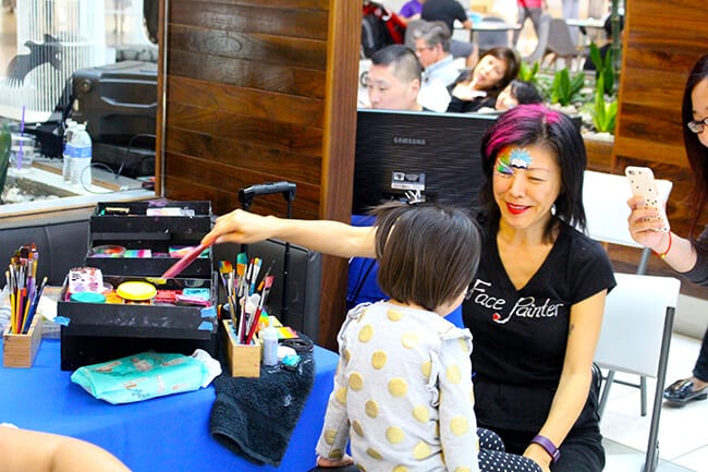 ScholarShare Westfield Mall Event Face Painting