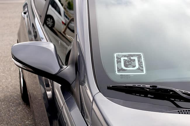 Uber Sticker on a Car