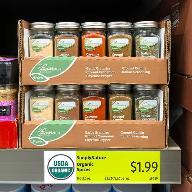 ALDI Organic Spices