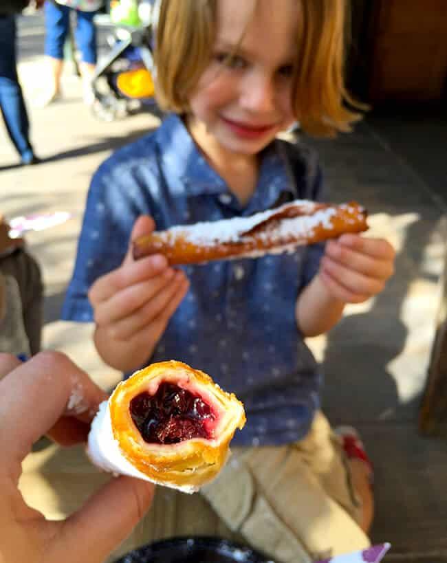 Boysenberry Flautas at Knott's