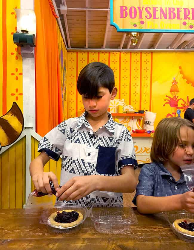 Make Your Own Boysenberry Pie at Knott's