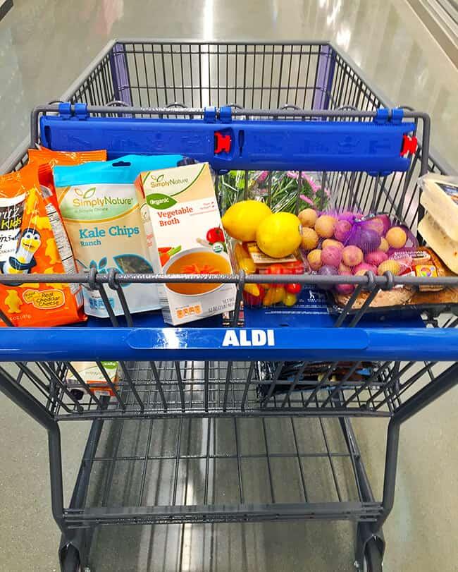 Shopping at ALDI Food Market