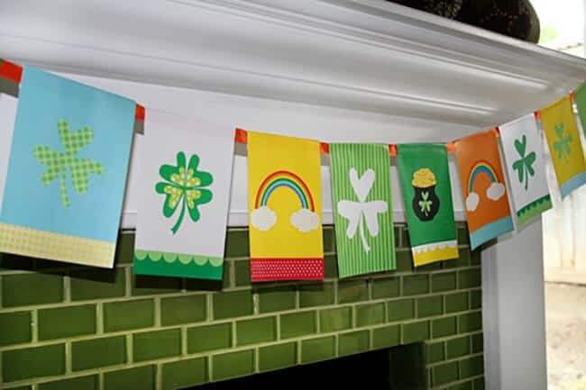St. Patrick's Day Banner Free Printable