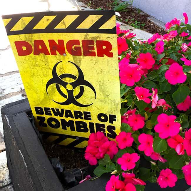 Danger Beware of Zombies