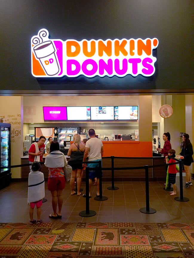 Dunkin Donuts at Great Wolf Lodge