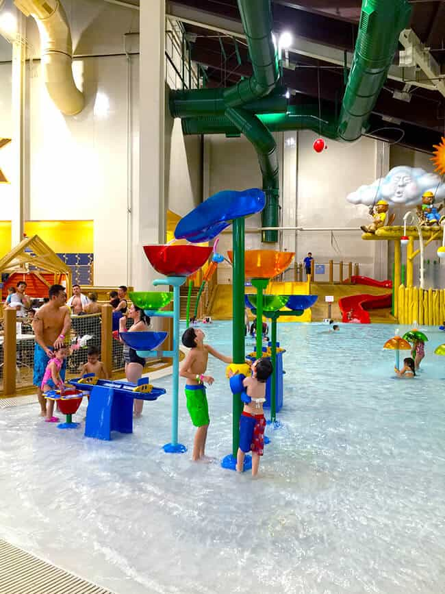Kiddie area at the Great Wolf Lodge