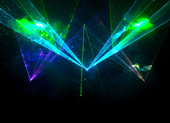 Laser Light and Bubble Show at Discovery Cube