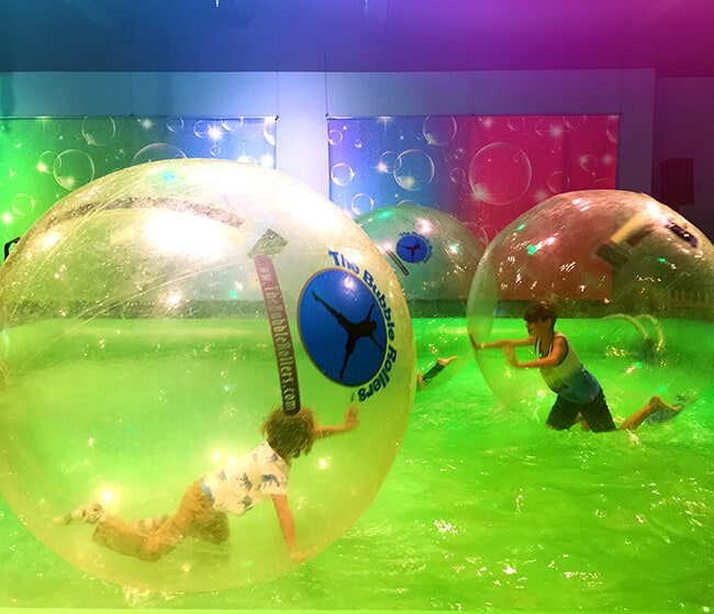 Playing In the Water Bubble Spheres