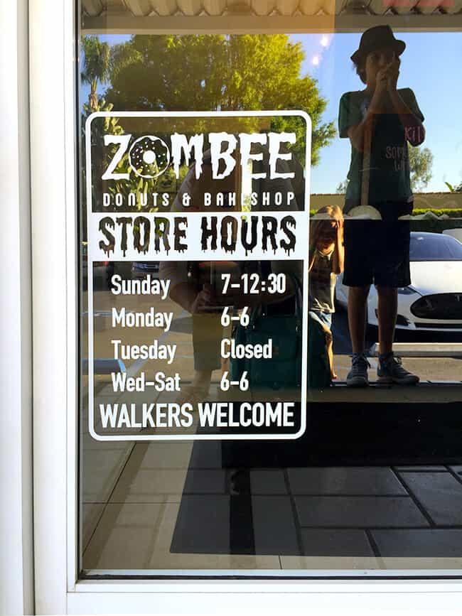 Zombee Donuts Hours