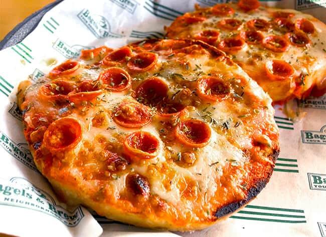 Bagels and Brew Pizza Bagels