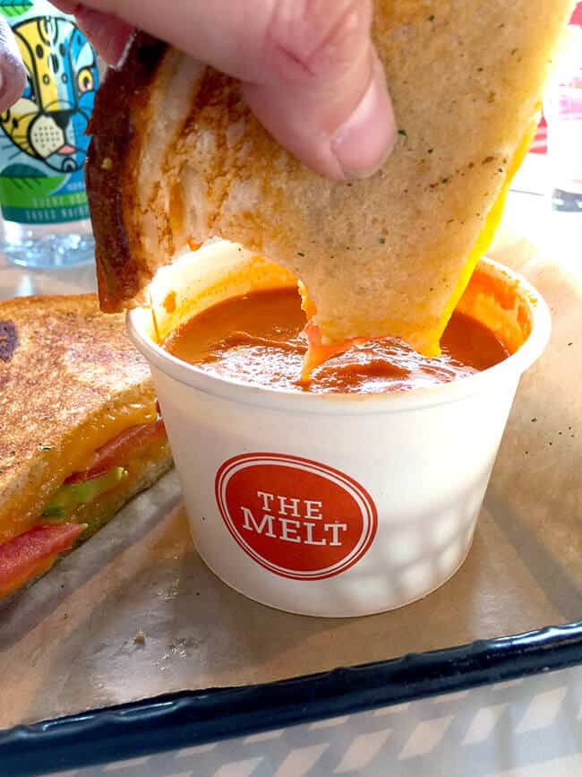 Dunking Grilled Cheese at The Melt