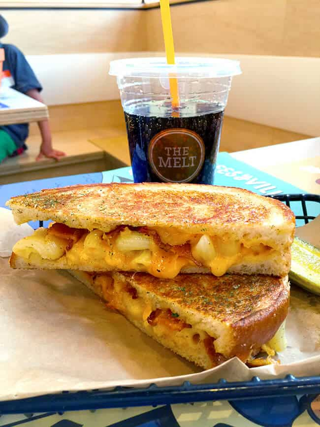 Macaroni and Cheese Grilled Cheese at The Melt