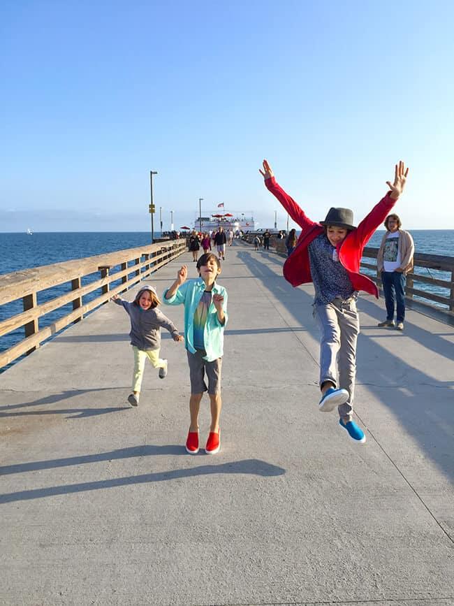 Running on Balboa Pier