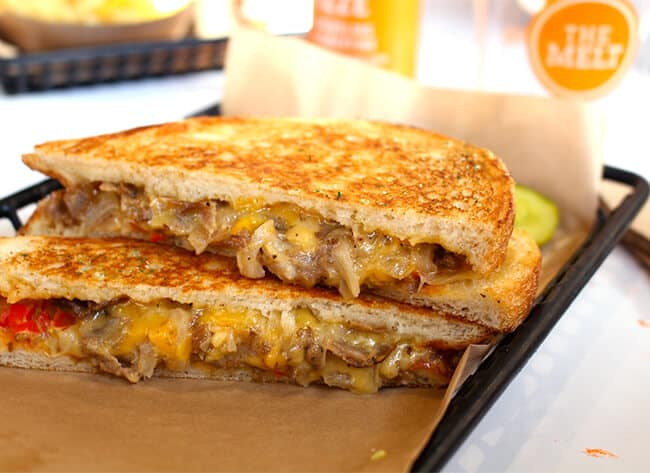 The Melt Pulled Pork Grilled Cheese
