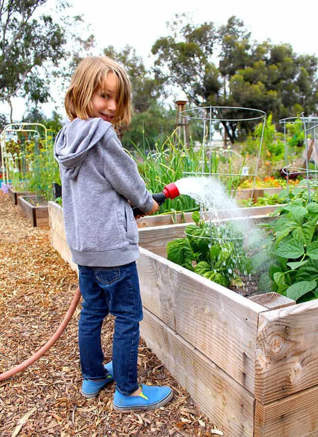 Vann Watering the Garden