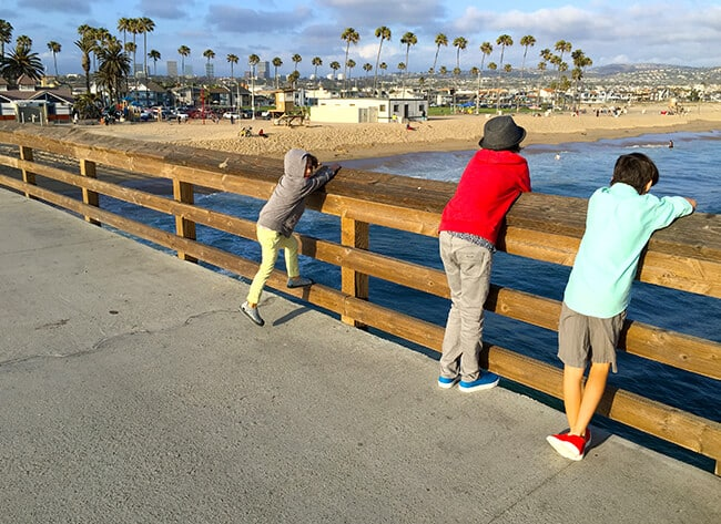 Wearing Crocs at Balboa Beach
