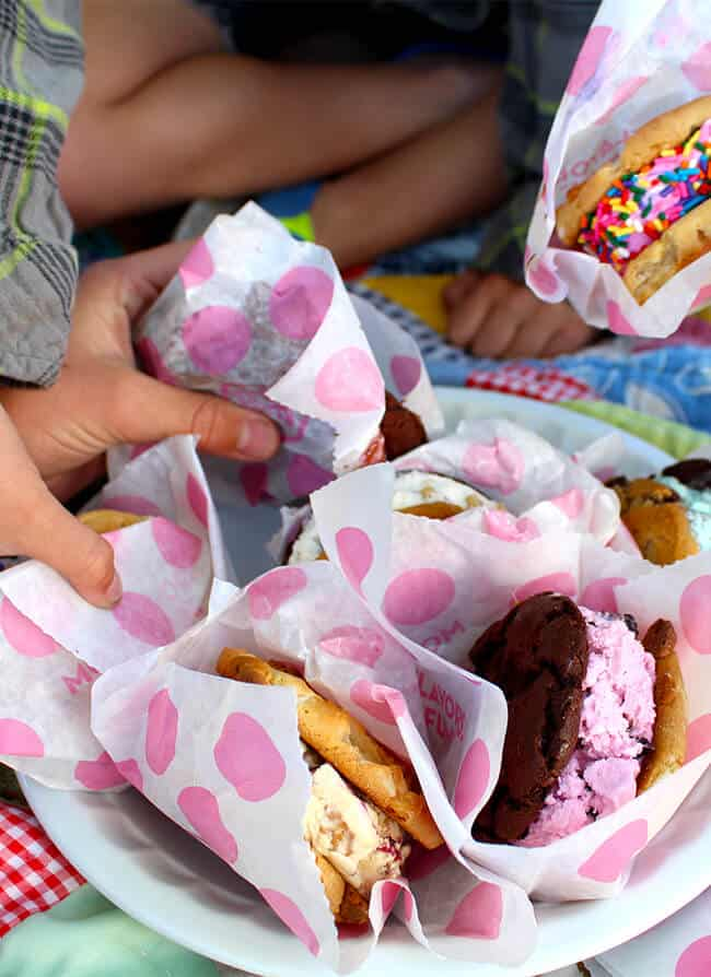 Baskin Robbin Ice Cream Party in the Park